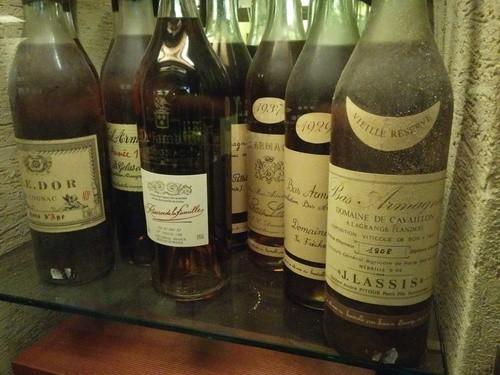 Quelques unes des liqueurs de nos réserves